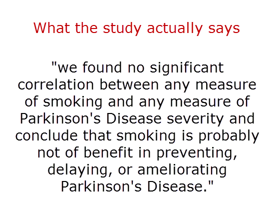 what the study actually says