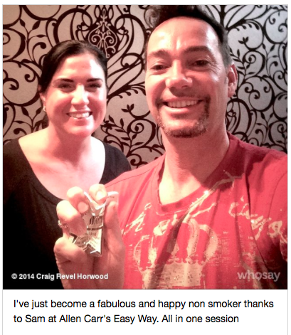 craig revel horwood quits smoking with Allen carrs easyway
