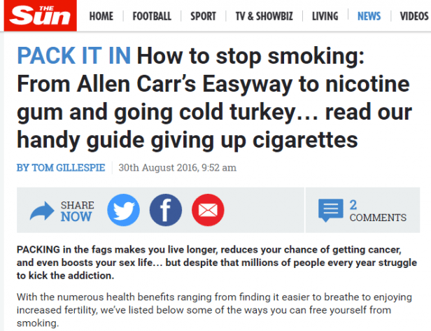 Easyway to stop smoking