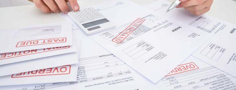 final notice overdue invoices debt