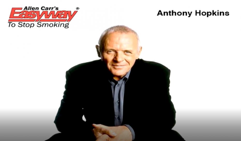 anthony hopkins stops smoking with allen carr's easyway